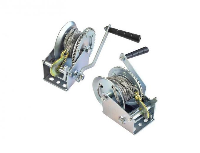 High Precision 1000 Lb Electrophoresis Manual Boat Winch Lightweight With 8 Meters Cable
