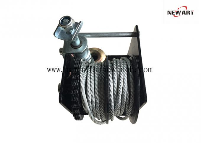 2k Lb Capacity Worm Gear Winch Hand Manual Winch Tow Puller Hand Brake