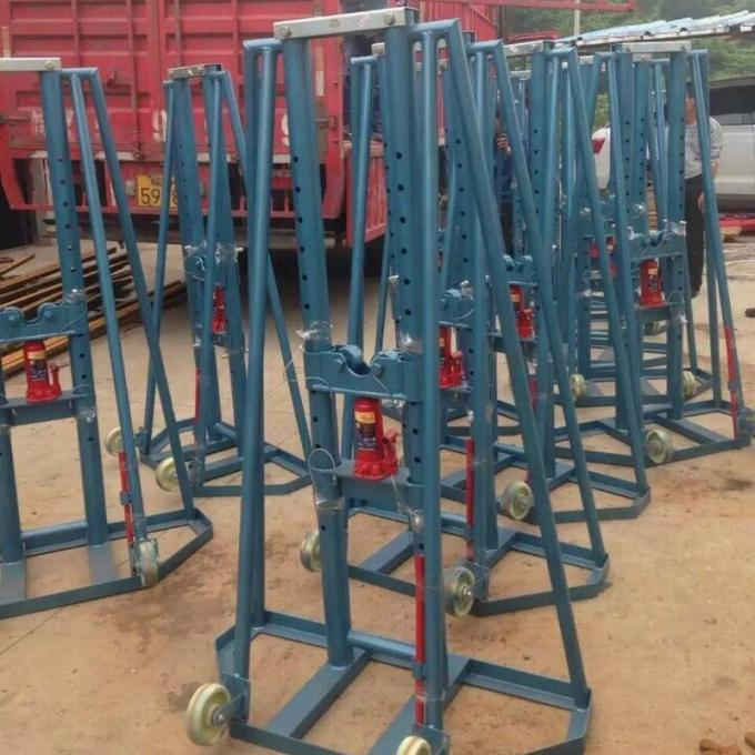 Jack Support Cable Drum / Heavy Load Hydraulic Type Cable Reel Stand 2 Buyers