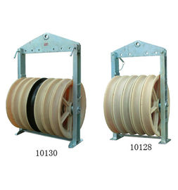 China Large Diameter Wire Stringing Blocks With Three Wheels Transmission Parts supplier
