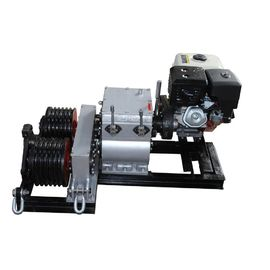 China Diesel Engine Gasoline Powered Winch Electric Cable Double Drum Hoist Winch supplier