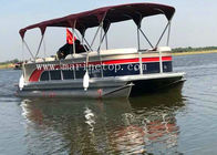 China Custom Color Sightseeing High Performance Pontoon Boats , 7.8m Diy Pontoon Boat company
