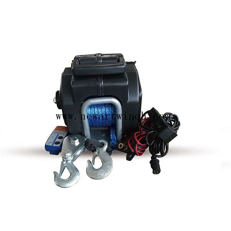 Small 3500 Lb Portable 12 Volt Electric Winch With Rope