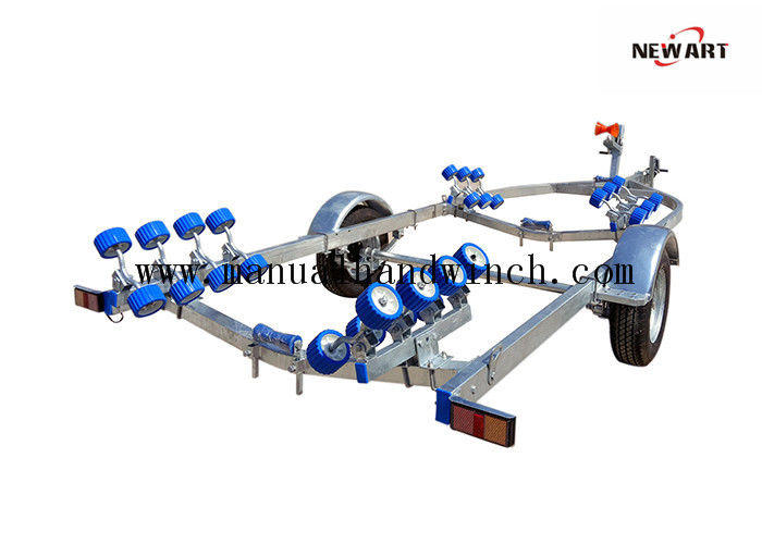 Fully Zinc Plated Small Aluminum Boat Trailer , 5960mm X 2200mm Lightweight Boat Trailer