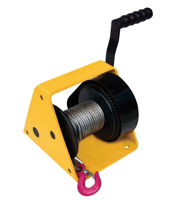 Hand Windlass Worm Drive Winch , GR300 300kg Small Winch
