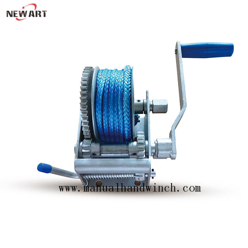 Portable Small Marine Hand Winch Boat Trailer With Synthetic