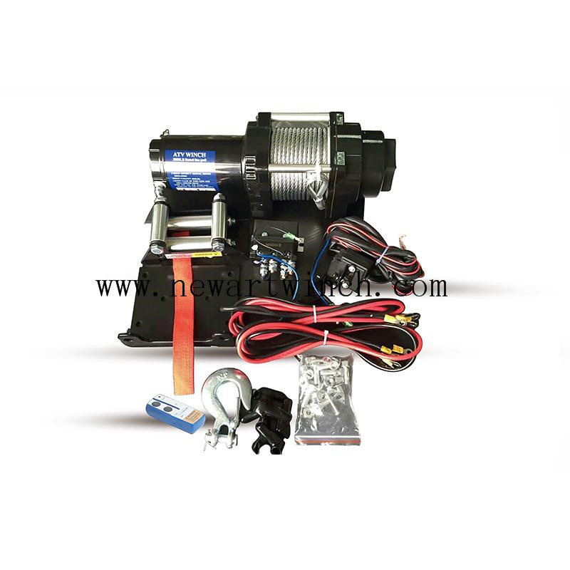 12V 4000 LB Electric ATV Winch 4x4 Off Road Synthetic