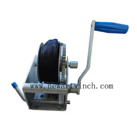 700kg Marine Hand Winch With Webbing Anti - Rust Surface Treatment 130mm Drum