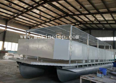14m Marine Grade 5083 Custom Pontoon Boat With 14 Benches A Toilet For Tourism