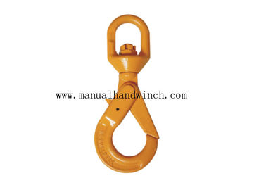 European Steel Swivel Self Locking Lifting Hooks G80 Plastic Spraying Surface