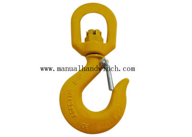 Swivel Forged Grade 80 Hook Alloy Steel Safety For Lifting High Tensile Powder Coated