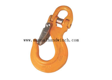 Ship Lifting Chain Hooks With Connecting Link , Red Industrial Lifting Hooks