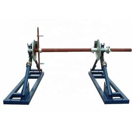 Detachable Type Drum Brakes Spiral Rise Machinery Wire Rope Reel Support Conductor Wire Cable Reel Stand