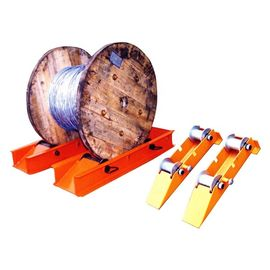 China Stringing Usage Drum Release Cables Function Stand Cable Reel Rotator Platform factory